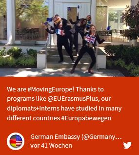 #Europa bewegen - Post German Embassy