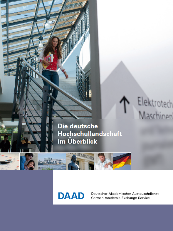 DAAD brochures and magazines on study and research in