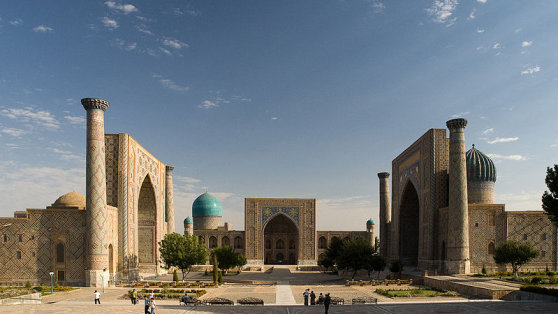 Usbekistan - The Registan Square in Samarkand